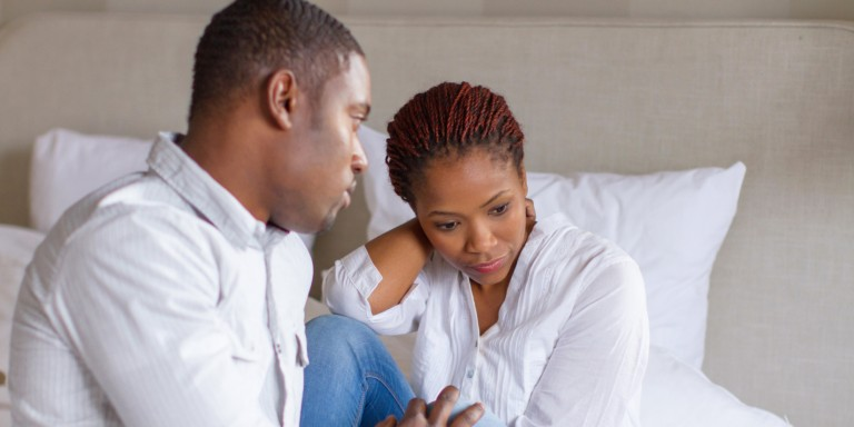 African couple having relationship problems, Cape Town, South Africa